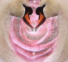 Swan Love Song iPad Case by Carol Bleasdale