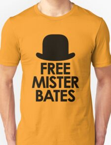 Free Mister Bates black design T-Shirt