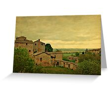 Early Morning Light in Tuscany Greeting Card