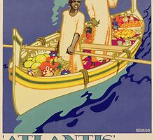 Poster advertising Royal Mail, 'Atlantis' Cruises by Bridgeman Art Library