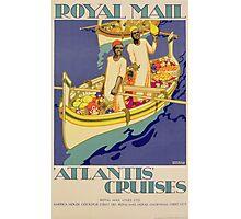 Poster advertising Royal Mail, 'Atlantis' Cruises Photographic Print