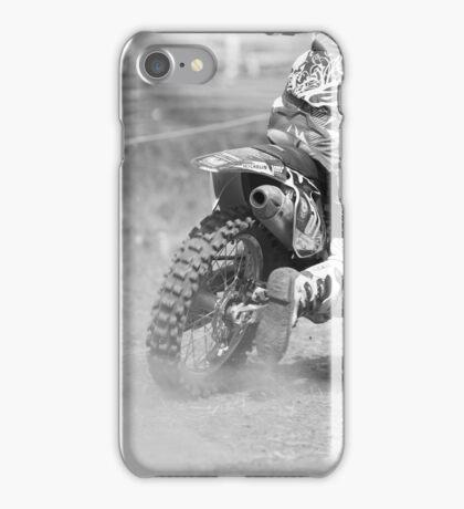 Dirt bike kicking up dust iPhone Case/Skin