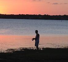 FISHING AT SUNSET by katemmo