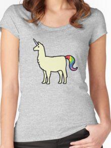 Llamacorn Women's Fitted Scoop T-Shirt