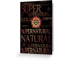 Supernatural In Red Greeting Card