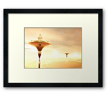 Dawn between the clouds Framed Print
