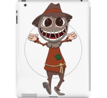 Scarecrow surprises everyone iPad Case/Skin