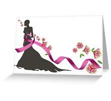 Pink Ribbon with Pohutukawa Greeting Card