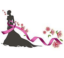 Pink Ribbon with Pohutukawa Photographic Print