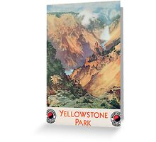 Yellowstone Park, 1934 Greeting Card