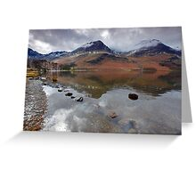 High Crag and High Stile, Buttermere Lake District Greeting Card