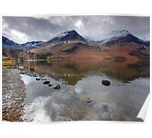 High Crag and High Stile, Buttermere Lake District Poster