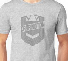 Custom Dredd Badge Shirt - Grey - (Carrington) Unisex T-Shirt