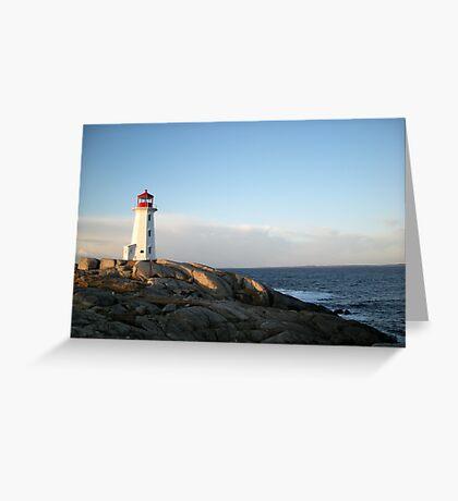 Peggys Cove at Dawn Nova Scotia Canada by Shawna Mac Greeting Card
