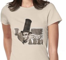 I love Abe Lincoln Caricature Womens Fitted T-Shirt