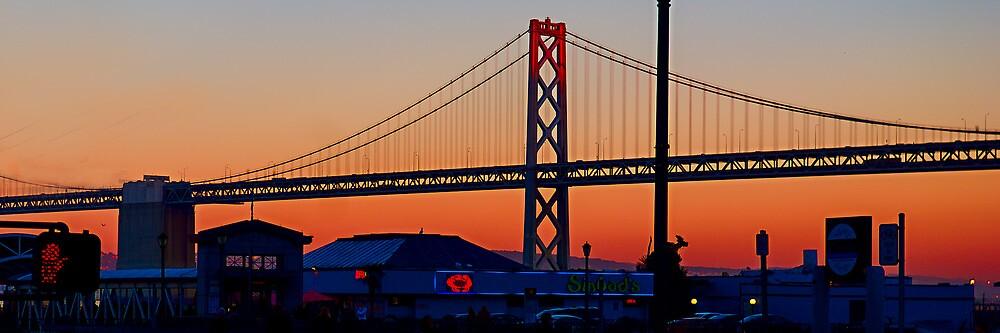 the Bay Bridge at Sunset by Yukondick