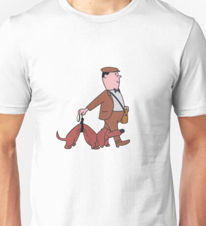 Wally & Dachshund (Production Cel) Unisex T-Shirt