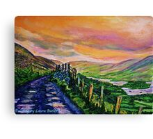 Cloughbrack Road, Galway. Painted from a photograph by Clive Hughes Canvas Print