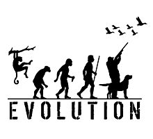 Funny Evolution of Duck Hunting  Photographic Print