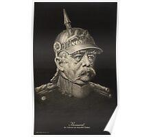 Postcard of Otto von Bismarck, c.1895 Poster