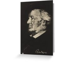 Postcard of Richard Wagner Greeting Card