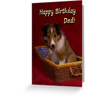 Birthday Sheltie Puppy Greeting Card