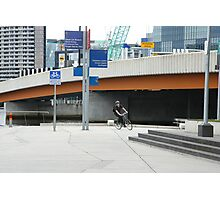 Free wheeling in the city Photographic Print