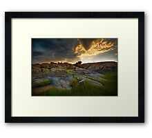 Storm Flow Framed Print