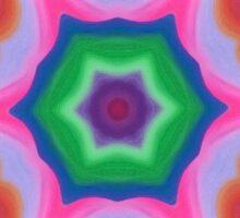 Kashmir Kaleidoscope Digital Art  Sticker