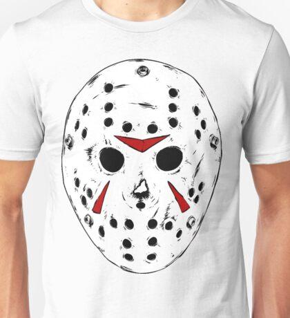 White Jason Hockey Mask Unisex T-Shirt