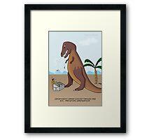 Prehistoric Greengrocer Framed Print