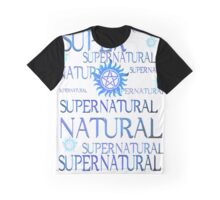 Supernatural In Blue Graphic T-Shirt