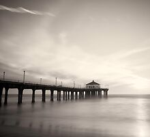 Black and White Pier by jswolfphoto
