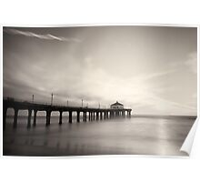 Black and White Pier Poster