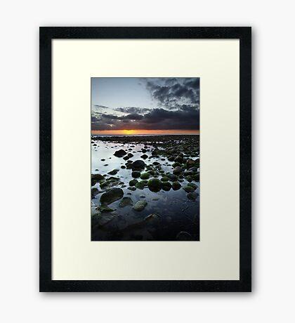 San Onofre Rocks Framed Print