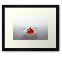 Jelly Cube Splash. Framed Print