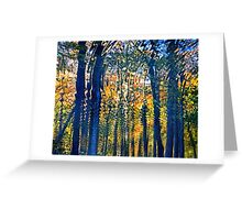 Nature's Ripples - Thoughtful Reflection in Fall Season Greeting Card