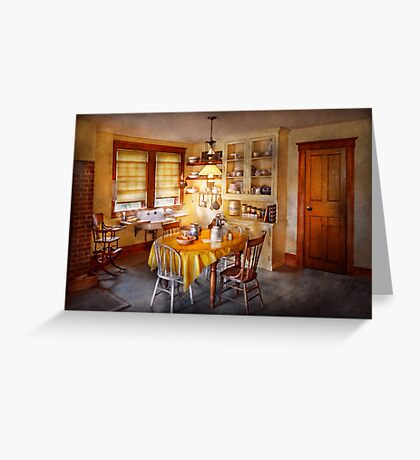 Kitchen - Typical farm kitchen  Greeting Card