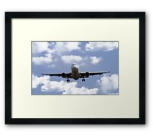 Airbus on Final Approach Framed Print