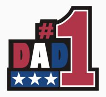 """Father's Day """"#1Dad"""" by HolidayT-Shirts"""