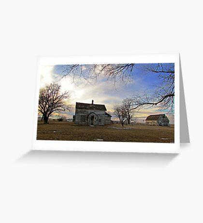 Old Prairie Homestead Greeting Card