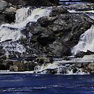 Waterfall in Lewiston, ME by quiltmaker