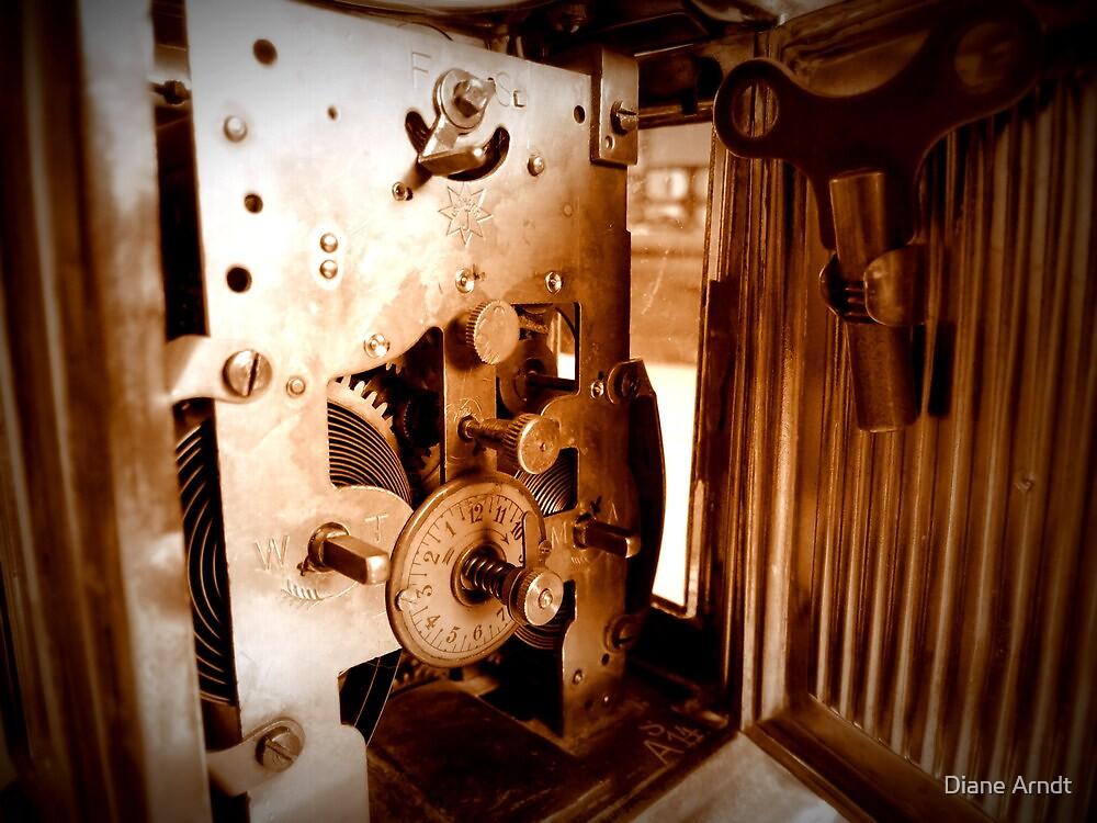 Inner Workings...1848 UNGHANS Carriage Clock...Still Works by Diane Arndt