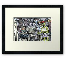 Monster Artist Studio (Sunset) Framed Print