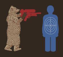 Bear vs. Man Target Practice by scoundrel