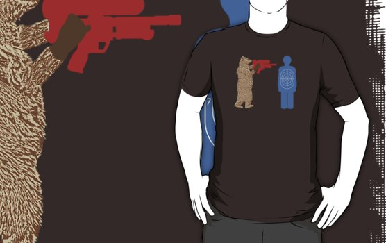Bear vs. Man Target Practice by scoundrel
