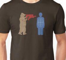 Bear vs. Man Target Practice Unisex T-Shirt
