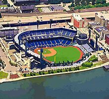 PNC Park Cartoon Aerial by shutterrudder