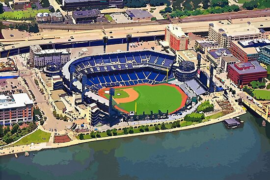 PNC Park Cartoon Aerial by shutterrudder
