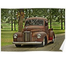 1947 International Pickup Truck Poster